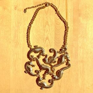 Aldo seahorse statement necklace.